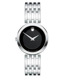 Movado Esperanza Analog Stainless Steel Bracelet Watch-BLACK