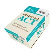 Essential ACT : 500 Flashcards with Need-To-Know Topics,
