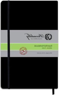 Essential Medium Blank Journal-Black