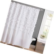 Essential Living Lucia Shower Curtain, White