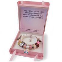 Girls Charm Bracelet With Charms, Fits Pandora Jewelry,