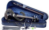 Stagg EVA 4/4-BK Silent Viola Set with Case - Black