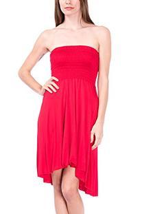 Modern Kiwi Eva High Low Dress Red Medium