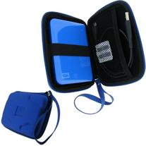 iGadgitz Blue EVA Hard Case Cover for Portable External Hard