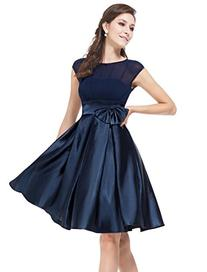 Ever Pretty Womens Cap Sleeve Party Dress 4 US Navy Blue