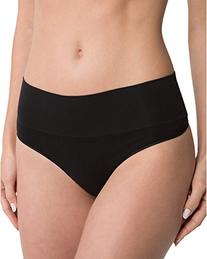 SPANX Women's Everyday Shaping Thong, Black, Large