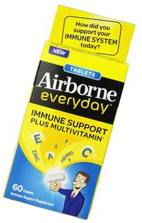 Airborne Everyday Vitamin C Immune Support Supplement and