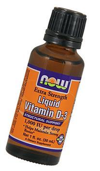 Now Foods Ex Str Liquid Vitamin D-3 1,000 IU Drop, 1 Ounce
