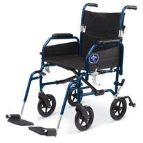 "Medline Combination Transport Chair and Wheelchair, 18"" Wide"