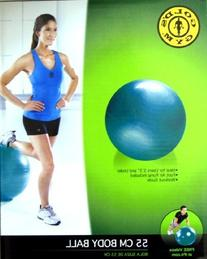 55 CM EXERCISE BODY BALL with Pump