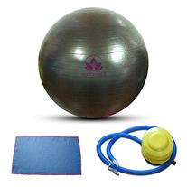 Clever Yoga Exercise Fitness Ball Plus Hand Towel and Foot