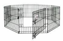 Petmate Exercise Pen W/Door Snap-Hook Design Included Ground