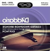 D'Addario EXP74CM Coated Phosphor Bronze Mandolin Strings,