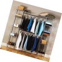 Expandable Closet Organizer In Chrome-Plated Steel With