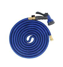 EconoLed 50 Feet Expanding Heavy Duty Expandable Strongest Garden Water Hose with Shut Off Valve Solid Brass Connector and 8-pattern Spray Nozzle