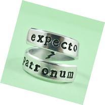 expecto patronum - Hand Stamped Aluminum Spiral / Twist /