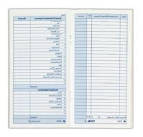 Adams Expense Record Book, 3.25 x 6.25 Inches, 48 Pages,