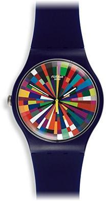 Swatch Color Explosion Multicolor Dial Plastic Rubber Quartz