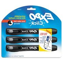 EXPO Click Dry Erase Markers, Chisel Tip, 3 per Pack