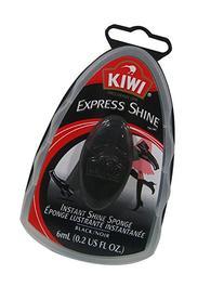 Kiwi Express Shine Sponge, Black, 0.23 Fluid Ounce