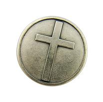 Expression of Faith 1 1/8 Inch Silver Tone Pocket with