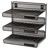 """Rolodex Expressions Mesh 3 Tier Desk Shelf - 12.5"""" x 12.5"""" x"""