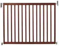 Munchkin Extending Wood Safety Gate, Dark Wood