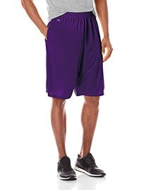Soffe Men's Extra Long Polyester Closed Hole Mesh Short