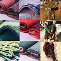 Extra Long Warm Winter Imitation Cashmere Thicken Plaid