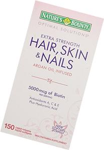 Nature's Bounty Optimal Solutions Hair Skin & Nails Extra