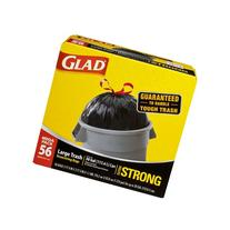 Glad Extra Strong Outdoor Drawstring Large Trash Bags, 30