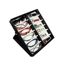 Ikee Design Small/Medium 12 Compartment Eyewear Case for