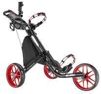 CaddyTek EZ-Fold 3 Wheel Golf Push Cart, Red