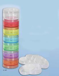 Ezy Dose 7 Day Small Stackable Pill Reminder with 6 Extra
