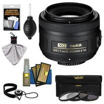 Nikon 35mm f/1.8 G DX AF-S Nikkor Lens + 3 UV/CPL/ND8