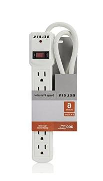 Belkin 6-Outlet Surge Protector with 2-Foot Cord, F5C047-02