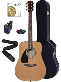 Fender FA-100 Dreadnought Acoustic Guitar Bundle with Hard