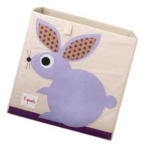 3 Sprouts Fabric Cube Storage Bin - Rabbit