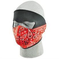 Zan Headgear Full Face Neoprene Mask Red Paisley