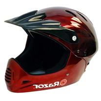 Razor Full Face Youth Helmet, Black Cherry