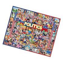 White Mountain The Faces Of Politics Retro Collage 1000