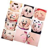 TAFLY 10 Sheets Facial Expressions Pregnancy Baby Bump Belly