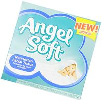 Angel Soft 75 Piece Facial Tissue, White, 18 Count