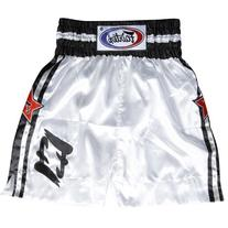 Fairtex F3 Boxing Trunk, Large, White