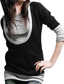Allegra K Women Long Sleeve Drawstring Pullover Hoodie