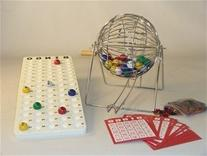 Bingo Set with Rolling Cage