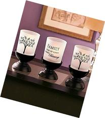 3-Pc. Family Tree Candle Garden by GetSet2Save