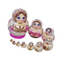 Leegoal Family Beautiful Wooden Russian Nesting Dolls Dried