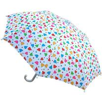RainStoppers Girl's Fancy Heart Print Umbrella, 34-Inch