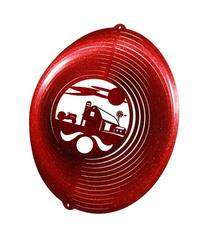 FARM CIRCLE TRACTOR Swirly Metal Wind Spinner